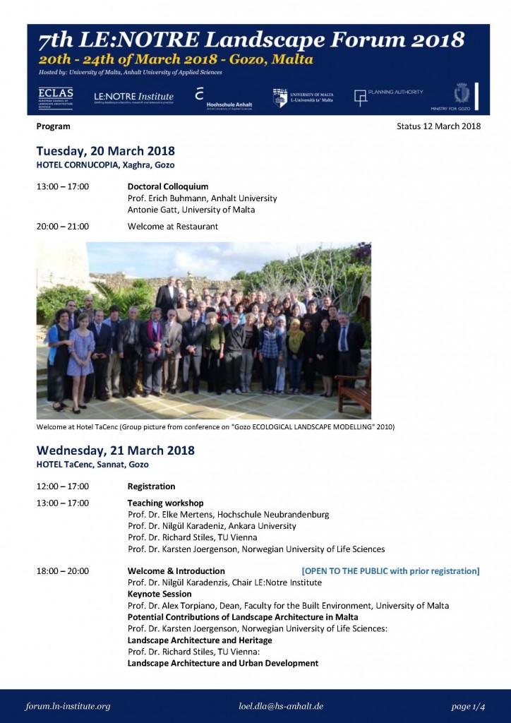 LLF Malta Programme 1